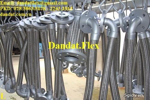Khớp nối mềm chống rung mặt bích, ống chống rung inox, khop gian no - 3