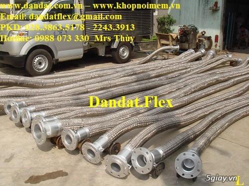 Khớp nối mềm chống rung mặt bích, ống chống rung inox, khop gian no - 2