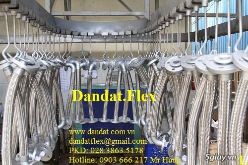 Khớp nối mềm chống rung mặt bích, ống chống rung inox, khop gian no - 1