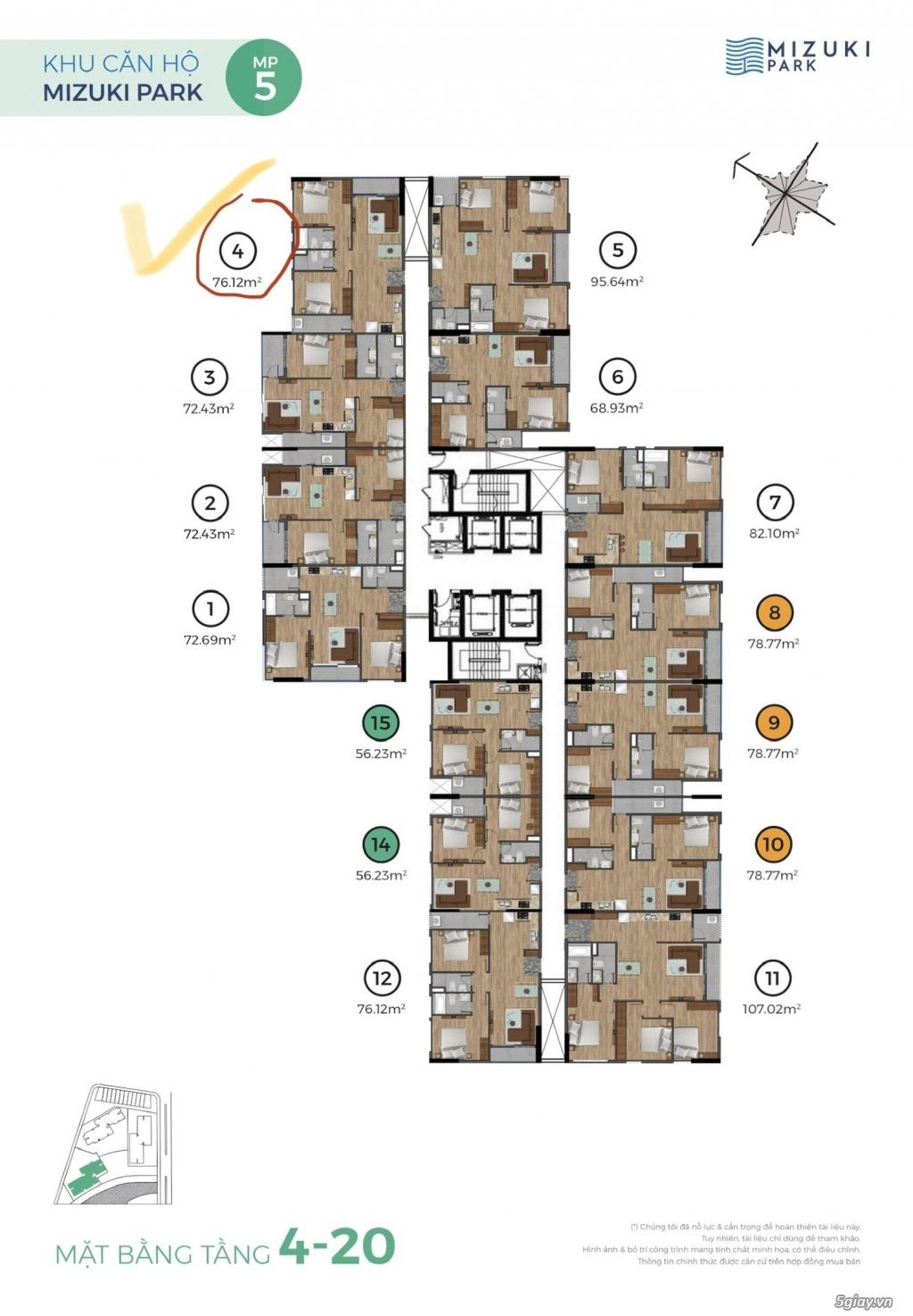 Cho thuê căn hộ cao cấp Flora Mizuki Park - Nguyễn Văn Linh, Bình Hưng - 1