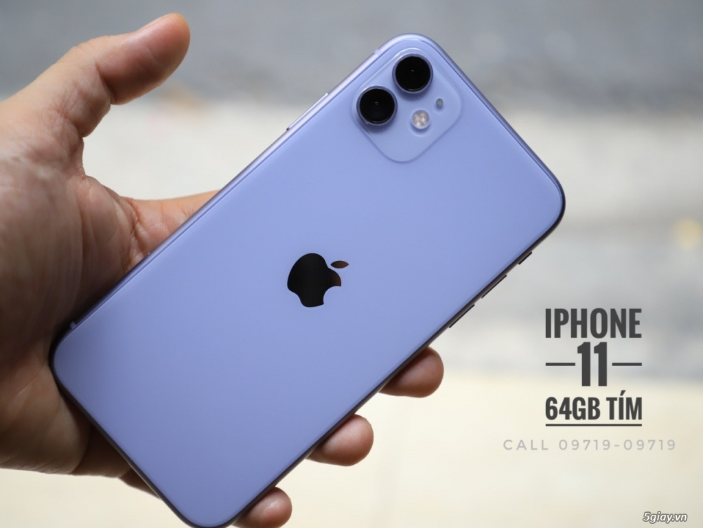 iPhone 11 64Gb màu TÍM quốc tế Mĩ cực mới long lanh - Bảo Hành Apple 12/2020