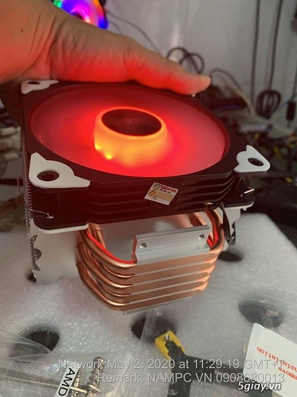 Tản nhiệt 5 ống đồng, led rgb. Coolmon X5 - 2