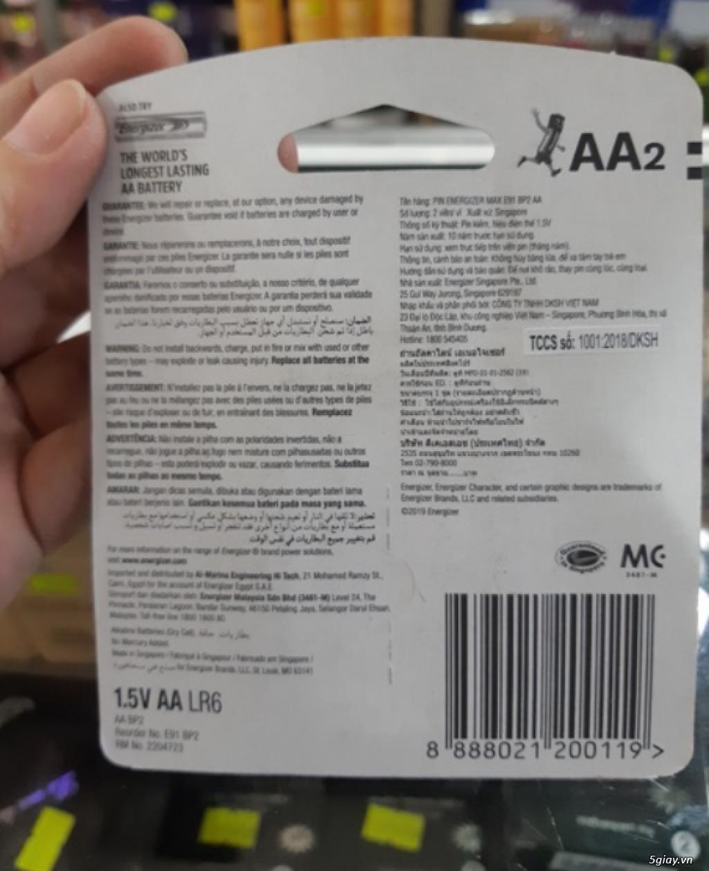Pin AA Energizer vỉ 2 viên - 1