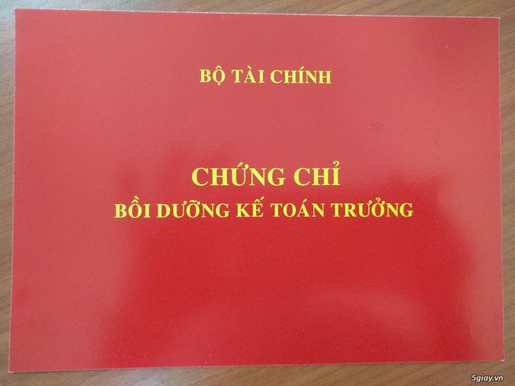 Học kế toán trưởng tại Hà Nội