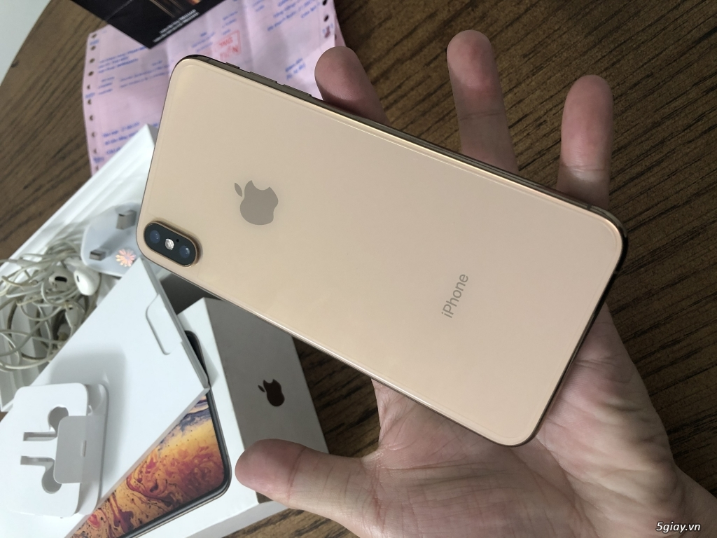 Bán iphone xs max 64gb Gold bản quốc tế 2 sim ZA/A fullbox... - 3