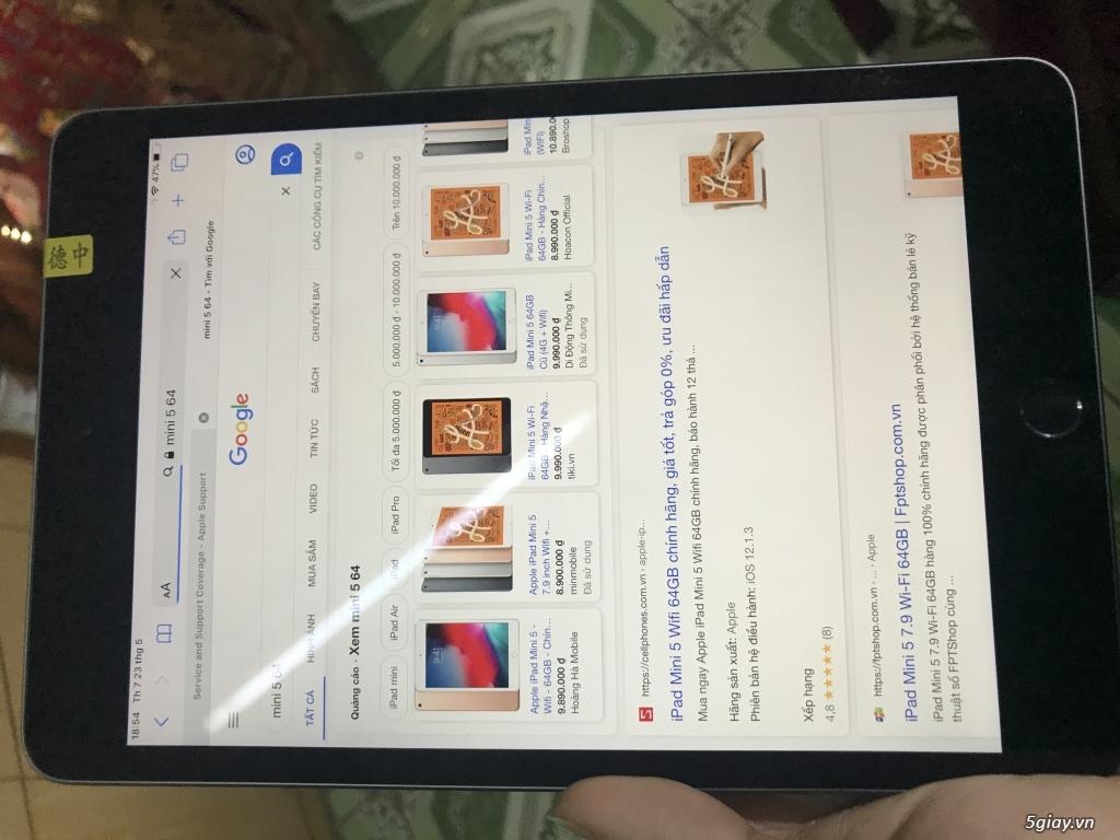 IPAD mini 5 64GB wf New 100% chỉ acti chua su dung Quan trong chat lg - 3