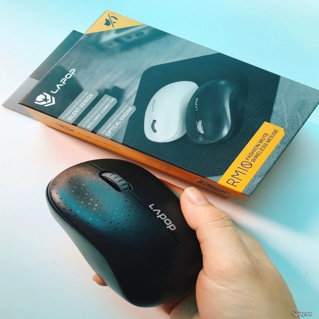 Chuột quang không dây Lapop RM10 - Đen, Trắng - 4