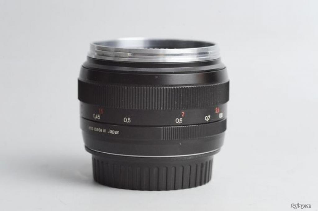 Carl Zeiss 50mm f1.4 Planar T* ZE MF ngàm Canon EOS (50 1.4) 95% - 179 - 1