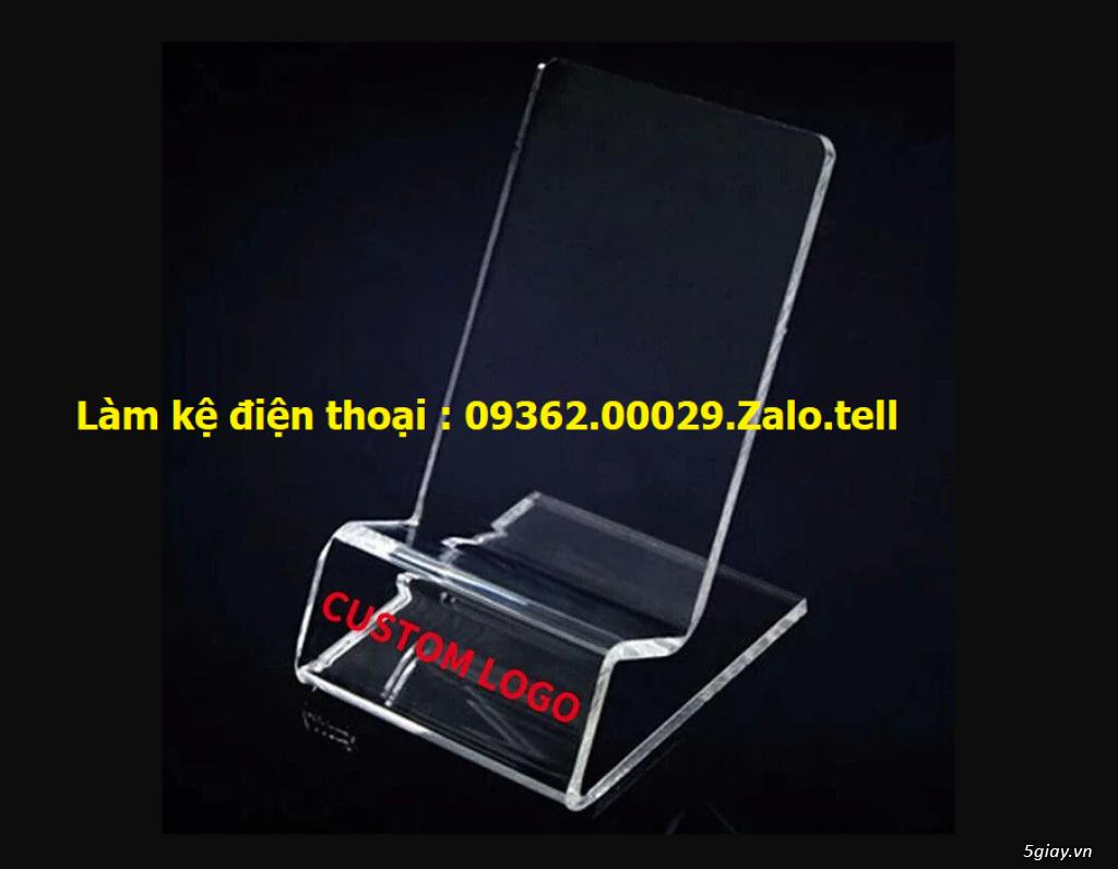 Sản phẩm kệ mica trưng bày điện thoại, giá đỡ điện thoại , đế mica trư - 3