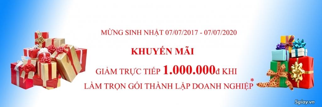 Dịch vụ thành lập công ty trọn gói chỉ 1 triệu