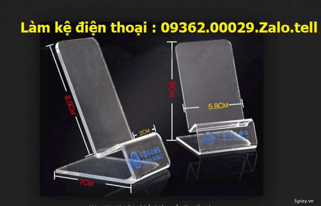 Sản phẩm kệ mica trưng bày điện thoại, giá đỡ điện thoại , đế mica trư - 4