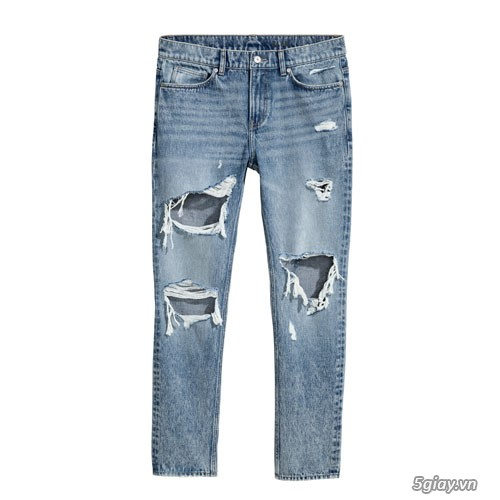Quần Jeans thời trang H & M Slim Regular Trashed size 32