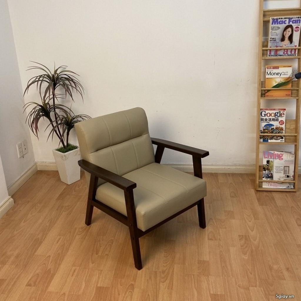 HW147 Ghế sofa đơn bọc simili khung gỗ tràm - 7