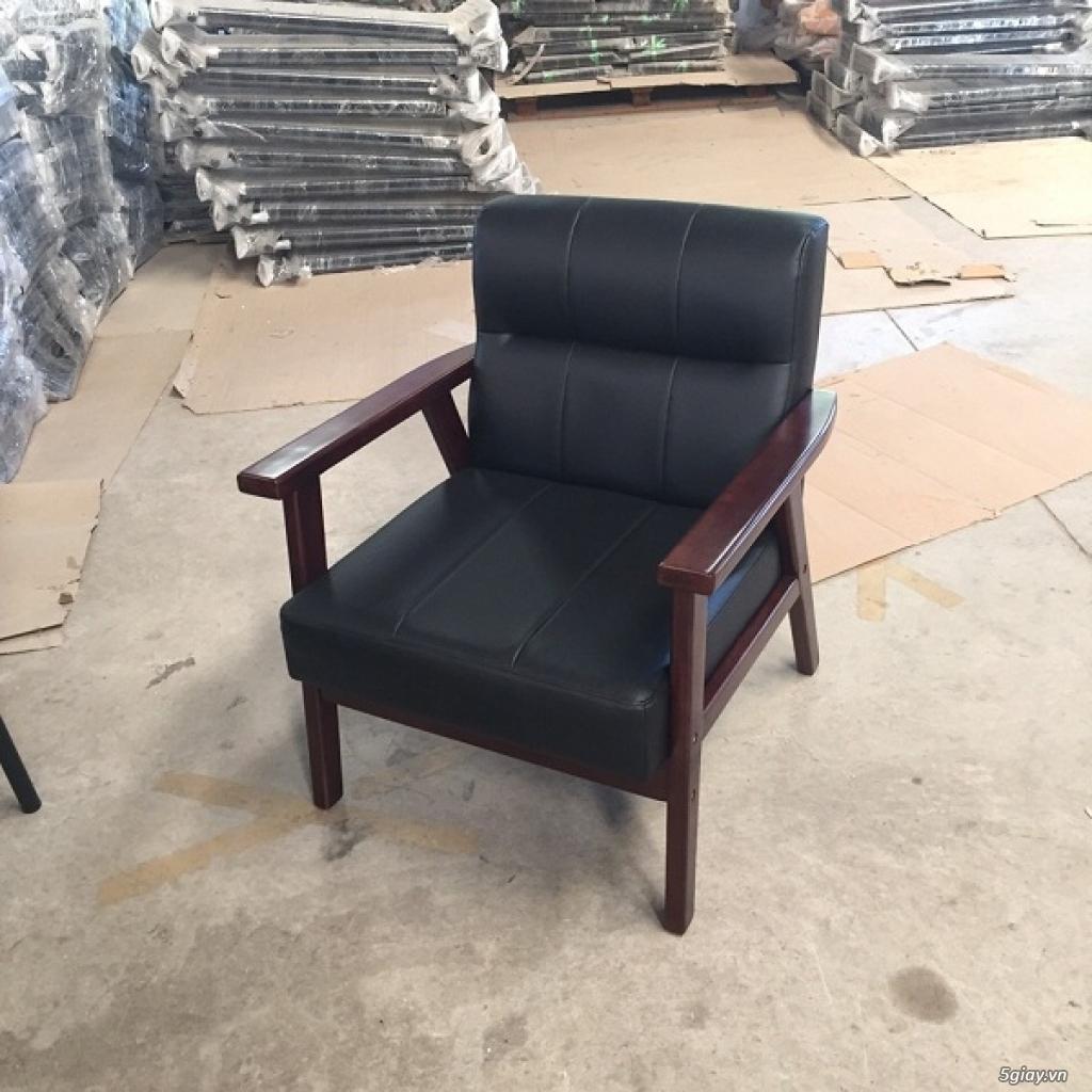 HW147 Ghế sofa đơn bọc simili khung gỗ tràm - 2