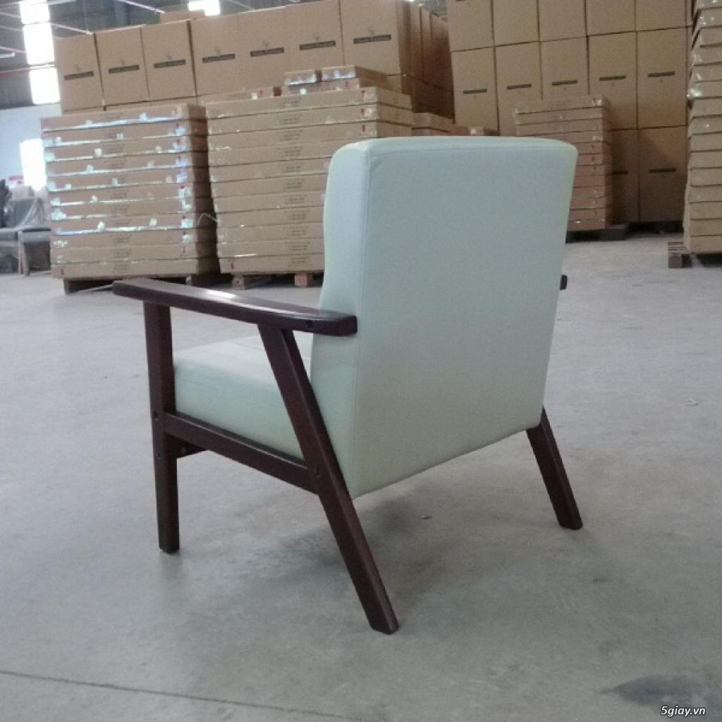 HW147 Ghế sofa đơn bọc simili khung gỗ tràm - 6