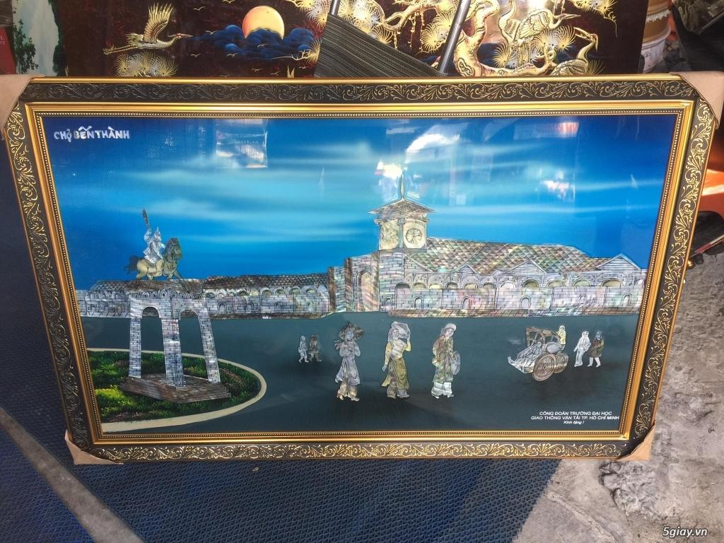 bán tranh sơn mài phong cảnh tphcm,tranh chợ bến thành,tranh UBNDTPHCM - 1