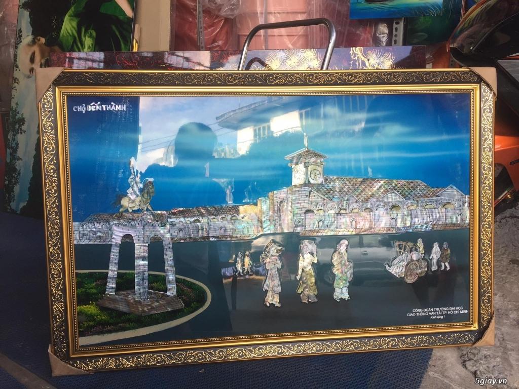 bán tranh sơn mài phong cảnh tphcm,tranh chợ bến thành,tranh UBNDTPHCM
