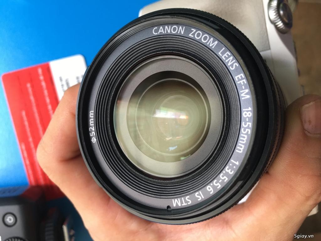 Combo Canon M3 + kit 18-55 fullbox LBM, flash TT350+ pin sạc, ngàm M