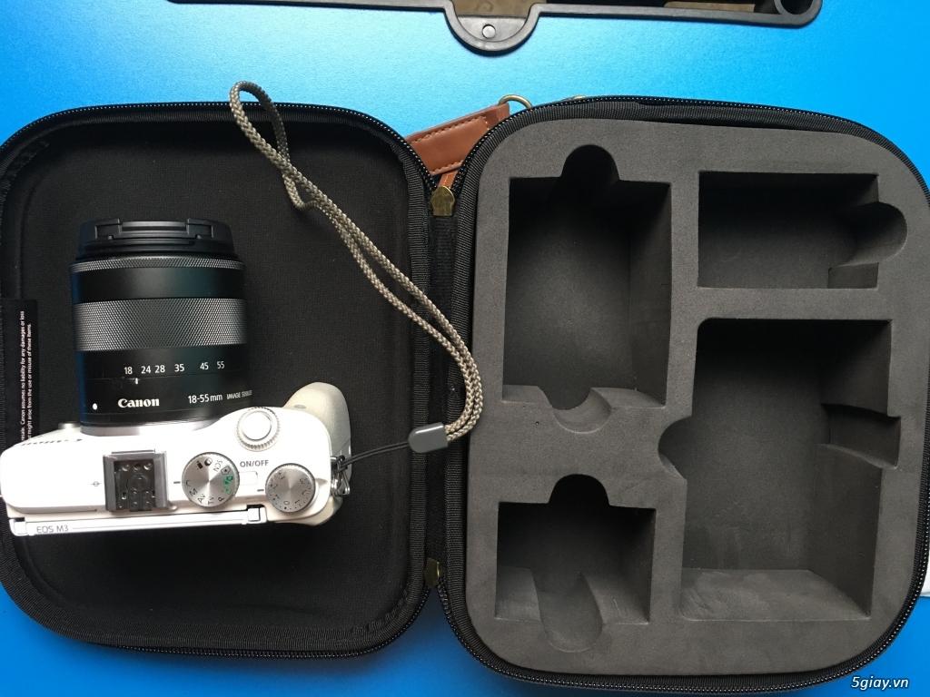 Combo Canon M3 + kit 18-55 fullbox LBM, flash TT350+ pin sạc, ngàm M - 3