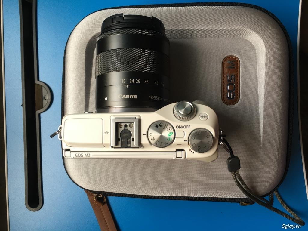 Combo Canon M3 + kit 18-55 fullbox LBM, flash TT350+ pin sạc, ngàm M - 4