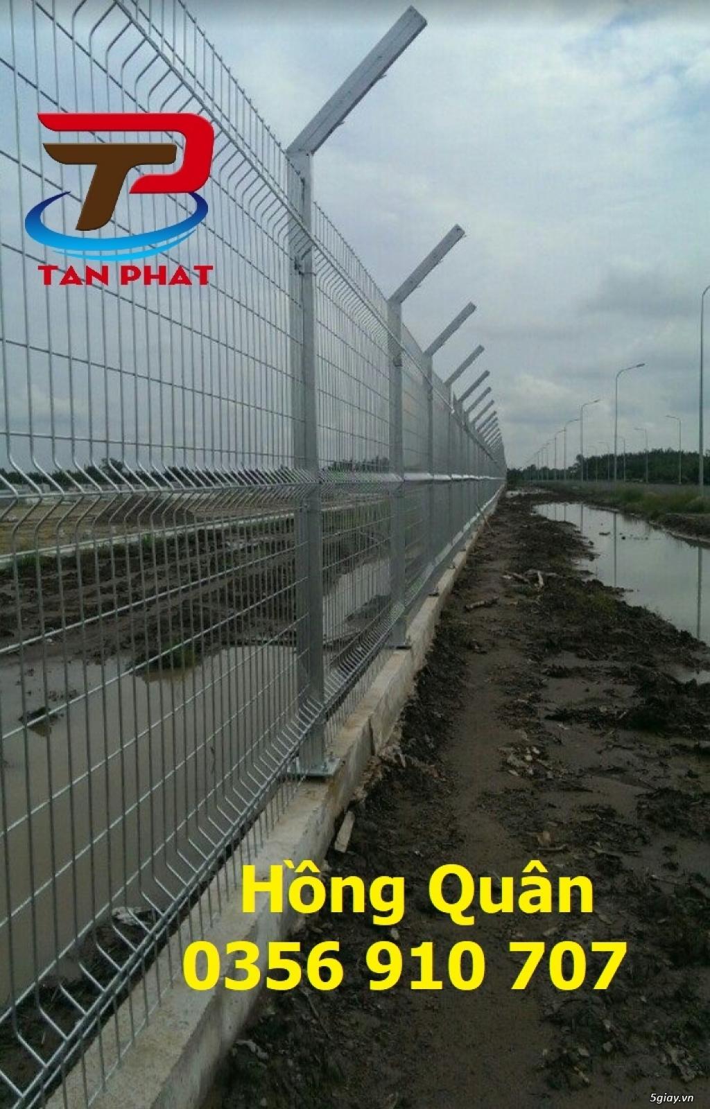 Hàng rào lưới thép hàn, hàng rào chắn sóng daay 4ly,5ly  mắt 50*200 - 3