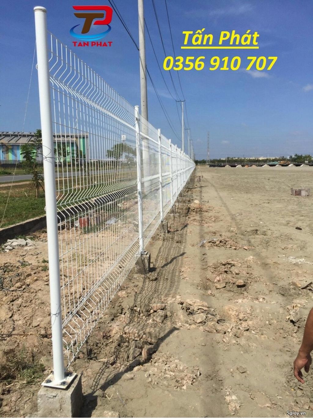 Hàng rào lưới thép hàn, hàng rào chắn sóng daay 4ly,5ly  mắt 50*200 - 8