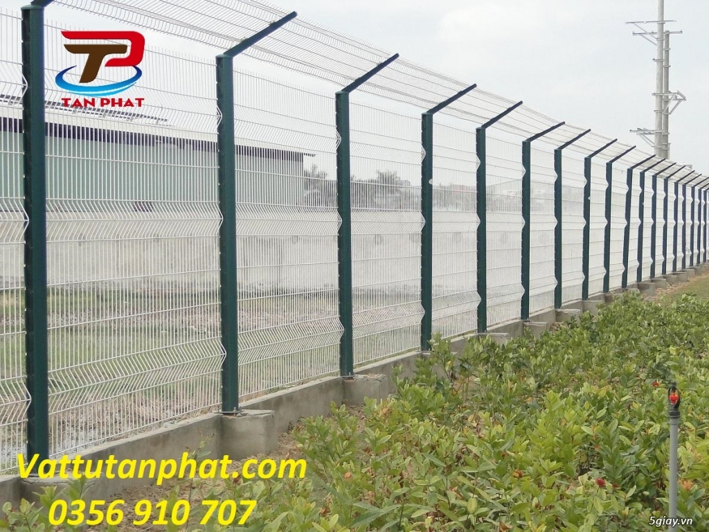 Hàng rào lưới thép hàn, hàng rào thép mạ kẽm D4,D6, hàng rào bảo vệ - 5