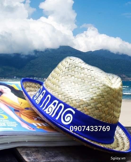 Nón đan lát đi biển - 2