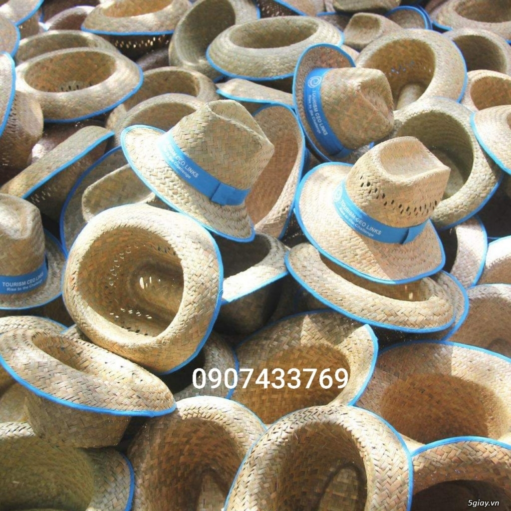 Nón đan lát đi biển - 4