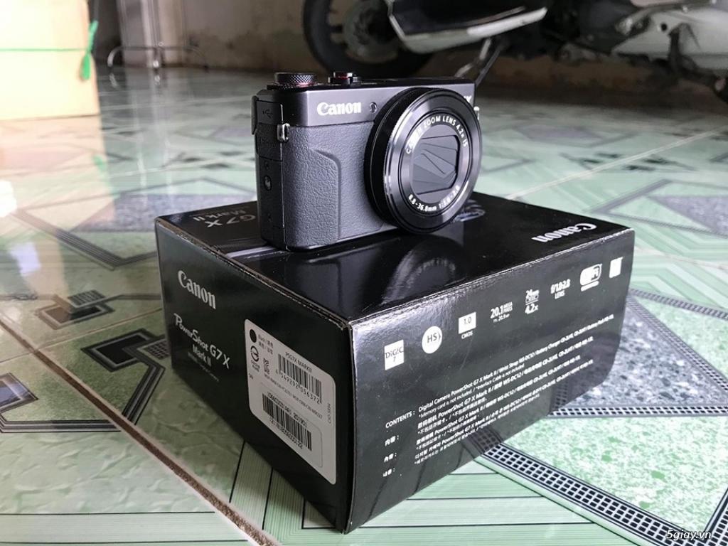 Cần bán Canon G7x mark ii còn bảo hành - 3
