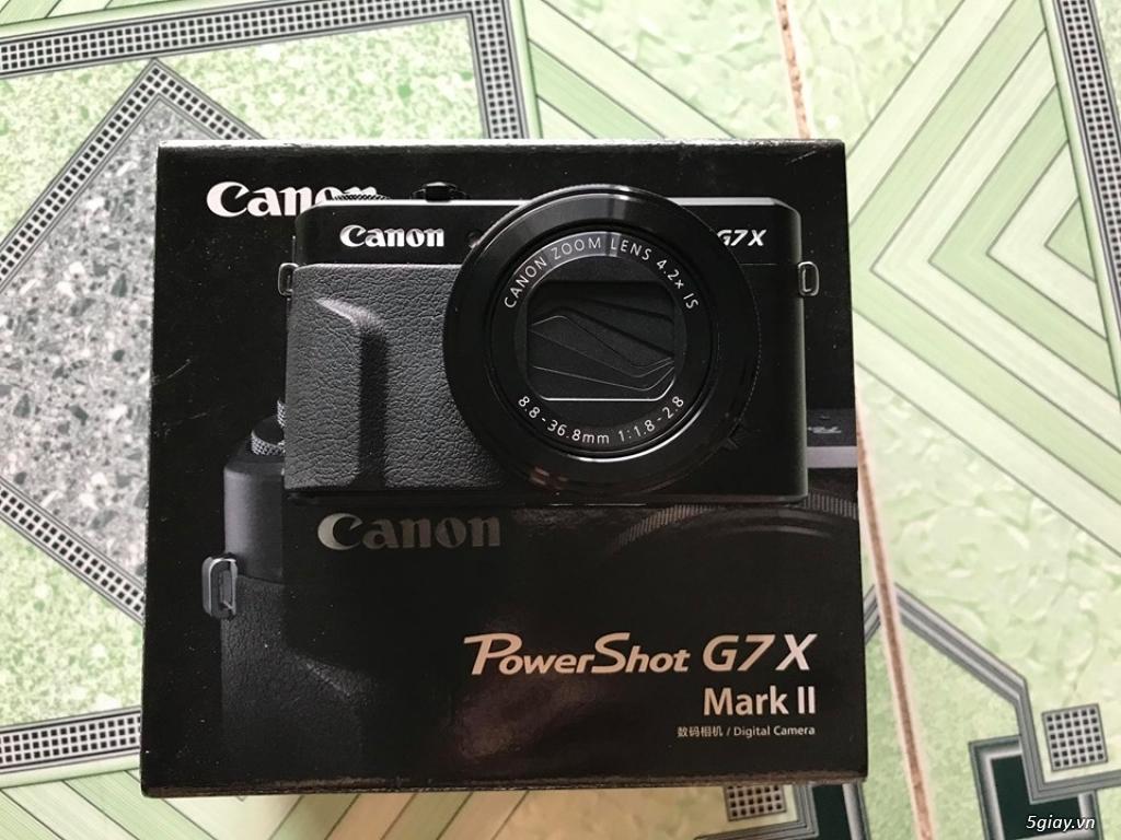 Cần bán Canon G7x mark ii còn bảo hành - 2