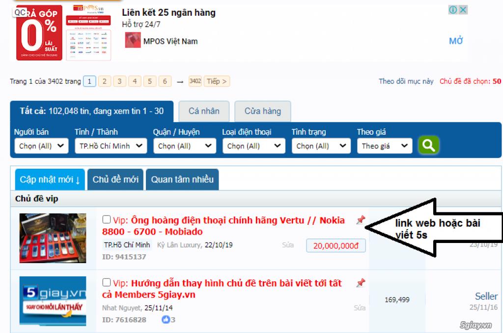Báo giá Quảng Cáo trên 5giay.vn - 5
