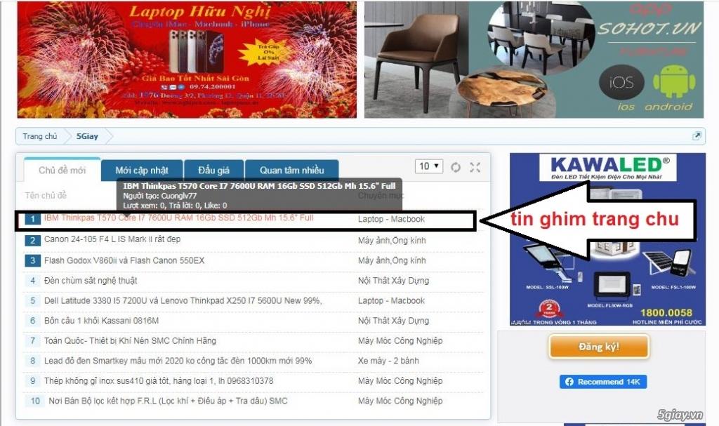 Báo giá Quảng Cáo trên 5giay.vn  ( tư vấn 0942788830 ) - 2