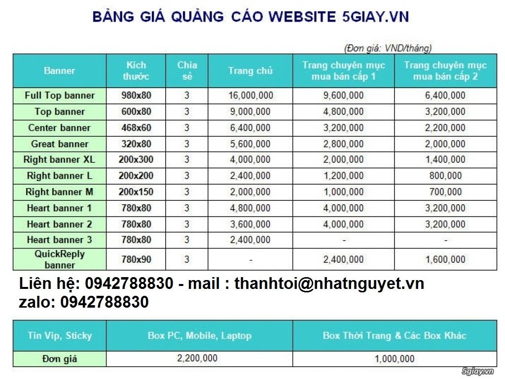 Báo giá Quảng Cáo trên 5giay.vn - 3
