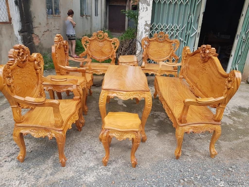 salon phòng khách gỗ quý giá cực rẻ ( xem hàng tại xưởng ) - 1