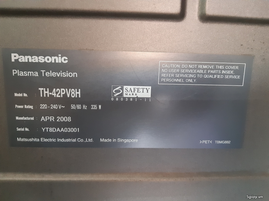 Cần bán xác Tivi 42 inch Panasonic TH-42PV8H (Made in Singapore) - 4