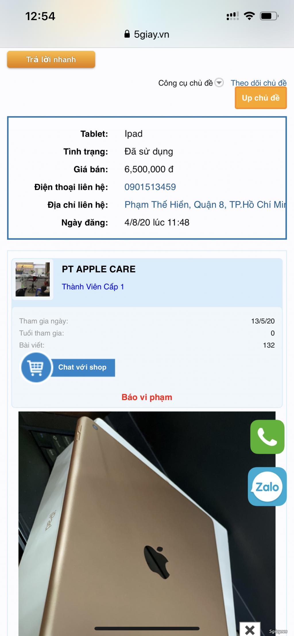 Cảnh báo lừa đảo bán Ipad
