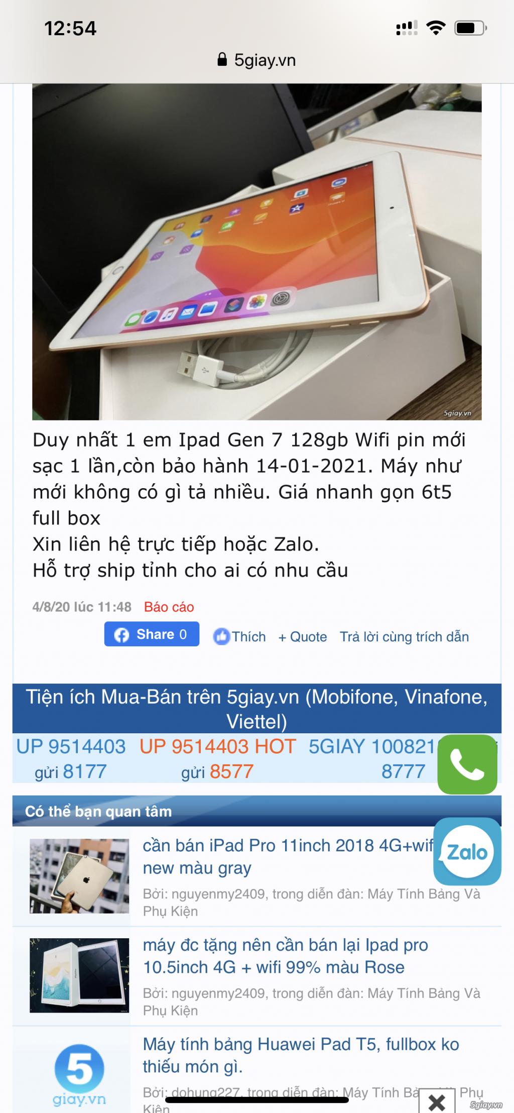 Cảnh báo lừa đảo bán Ipad - 1