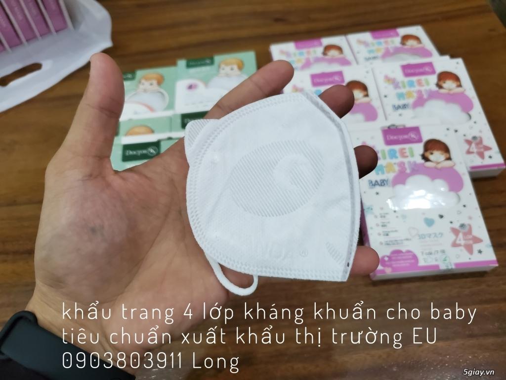 khẩu trang 4 lớp 3D kháng khuẩn cho bé thương hiệu DoctorK