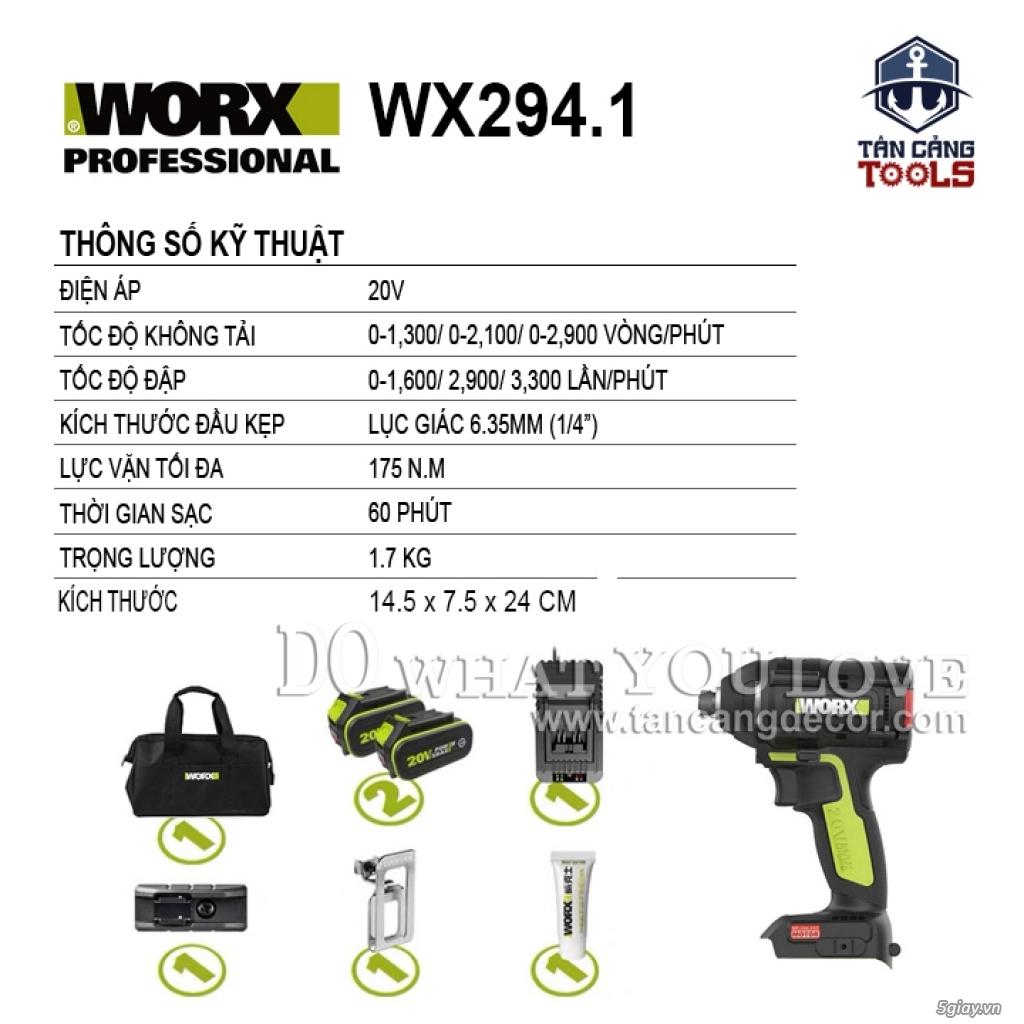 Máy Vặn Vít Động Lực Dùng Pin 20V Worx WU294.1 - 2