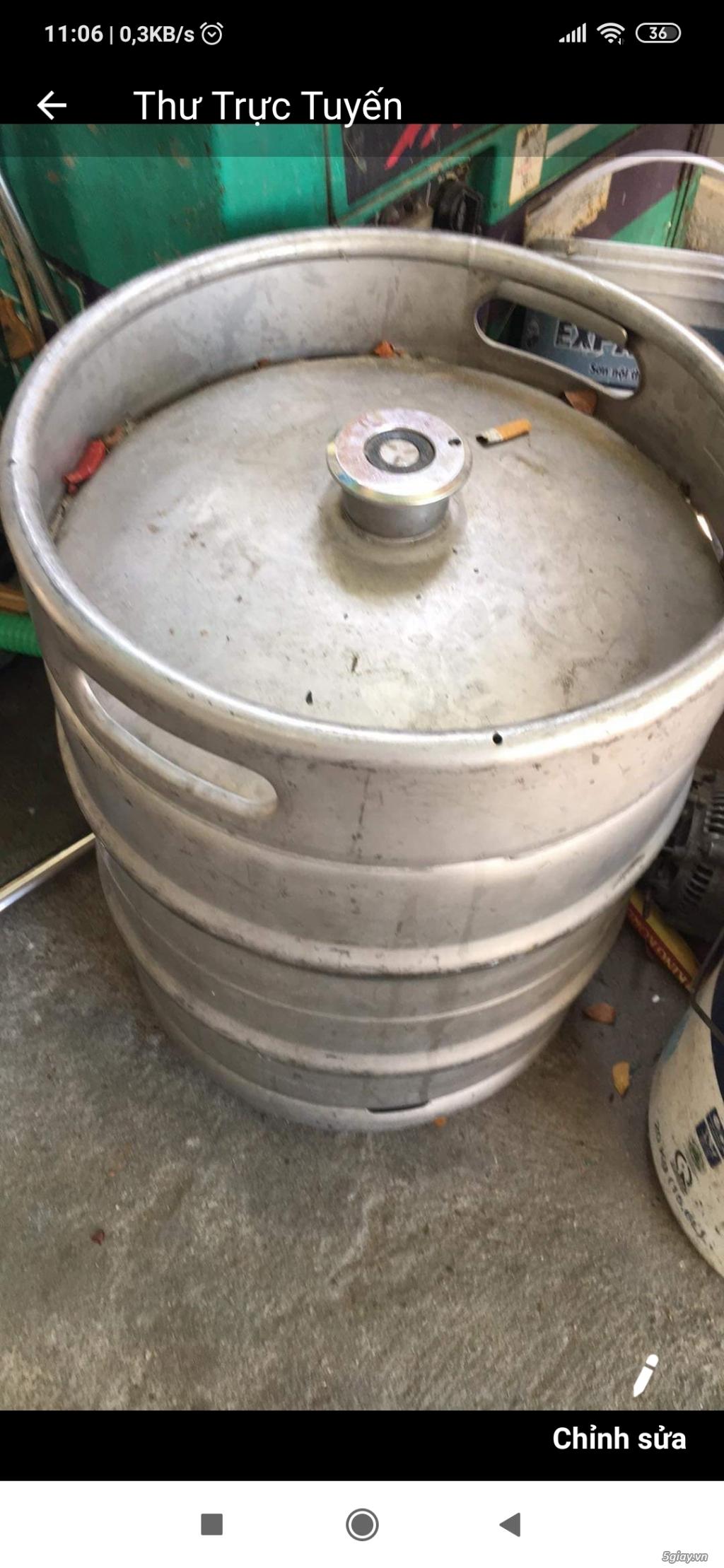 Chuyên thu mua bán các loại bom bia, vỏ bốc bia , keg bia đã qua sử dụng hoặc mới - 3