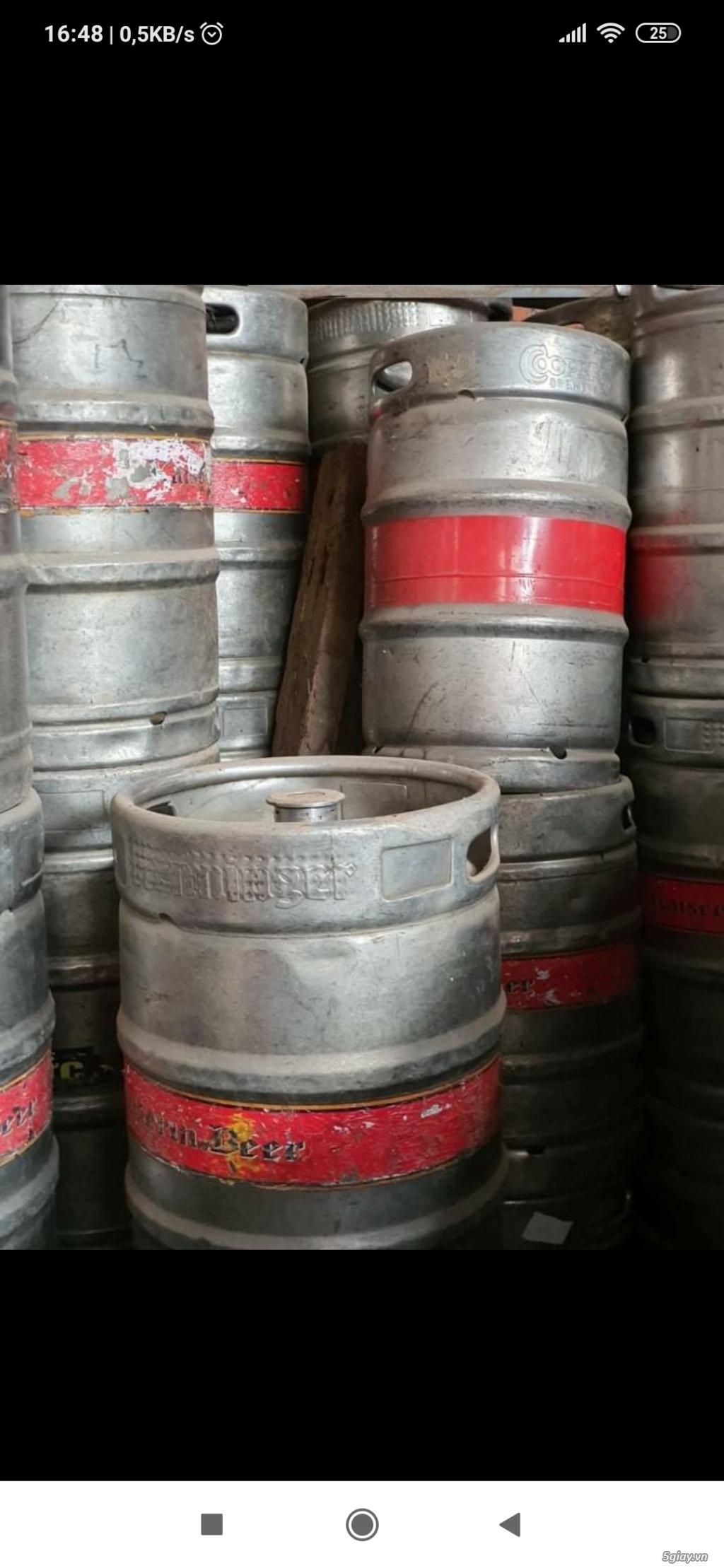 Chuyên thu mua bán các loại bom bia, vỏ bốc bia , keg bia đã qua sử dụng hoặc mới - 5