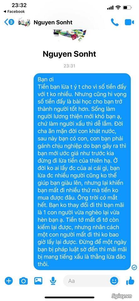 Cảnh báo lừa đảo khi mua đồ trên FB với tên Nguyễn Hữu Sơn - 4