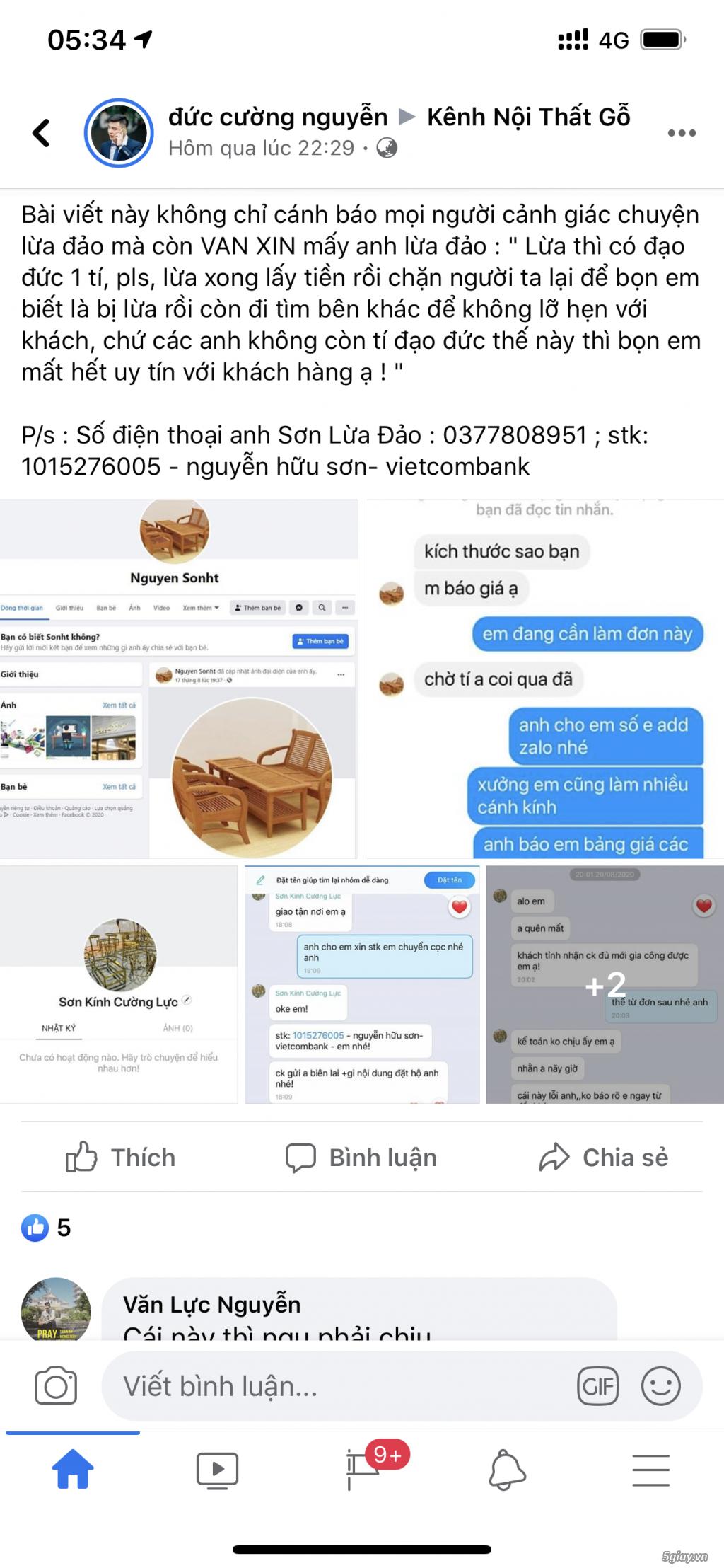Cảnh báo lừa đảo khi mua đồ trên FB với tên Nguyễn Hữu Sơn - 1