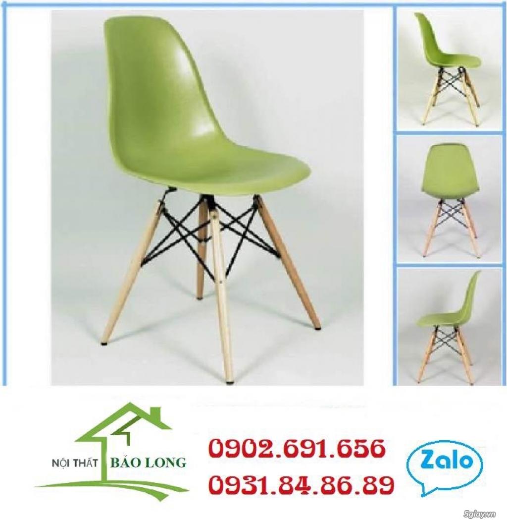 Ghế nhựa nhập chân gỗ giá rẻ - 1