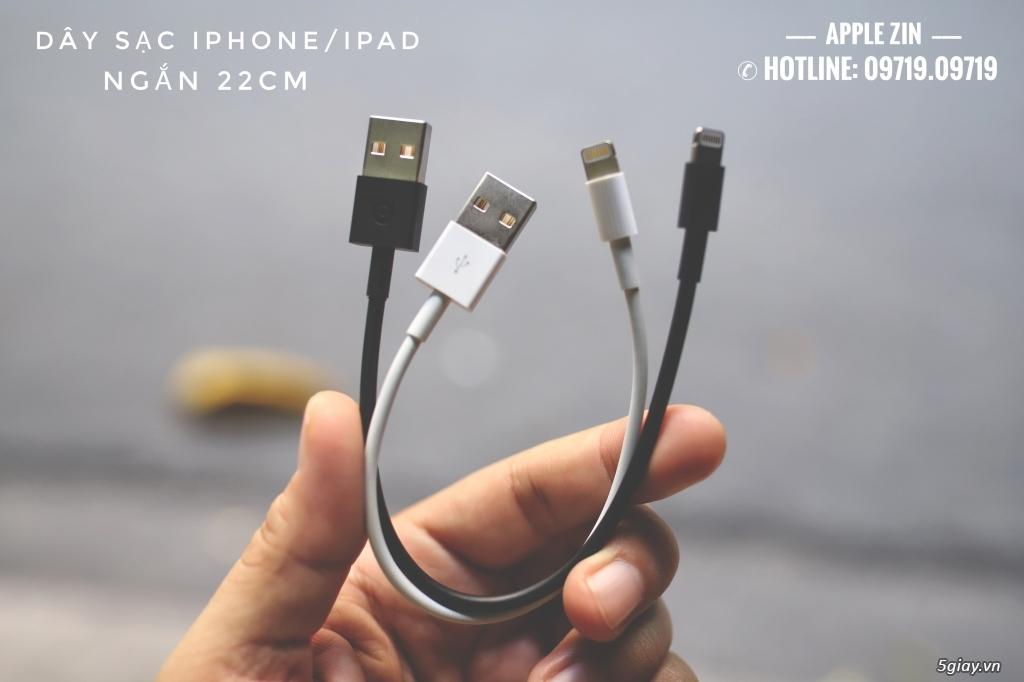 Dây sạc iPhone/iPad ngắn 22cm Chính Hãng Apple Bảo Hành 12 Tháng !!