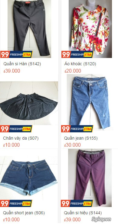 Xả hàng siêu rẻ quần áo, váy đầm, hàng mới và đã sử dụng còn đẹp
