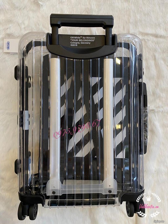 vali kéo rimowa x off white nhưa trong suốt, thời trang, cá tính - 3