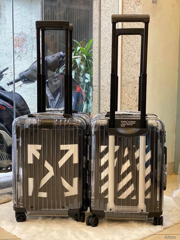 vali kéo rimowa x off white nhưa trong suốt, thời trang, cá tính - 4