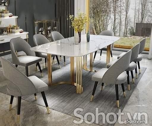Bộ bàn ăn Kenzo và 6 ghế Collins